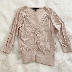 White House black market 3/4 sleeve pink sweater